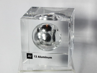 Acrylic Element cube - Aluminium Al - 50mm