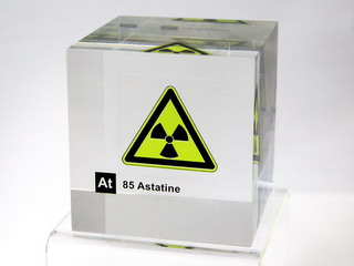 smart-elements - Acrylic Element cube - Astatine - 50mm