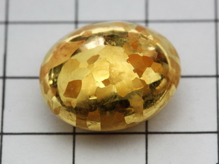 smart-elements - Etched 24K fine gold bead, 5 grams - 99,99% purity