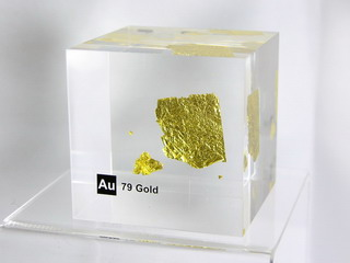 smart-elements - Acrylic Element cube - Gold Au - 50mm