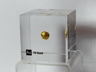 smart-elements - Acrylic Element cube - Gold Au - 50mm - unique piece
