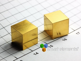 smart-elements - GOLD 24K precision density-standard cube 1cm3 -19.32g NEW!