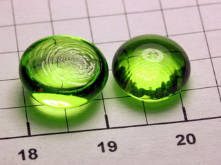 smart-elements - Praseodymium 3+ doped phosphate glass bead NEW!