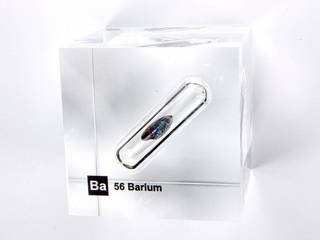 Acrylic Element cube - Barium Ba - 50mm
