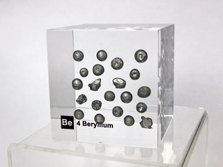 smart-elements - Acrylic Element cube - Beryllium Be - 50mm