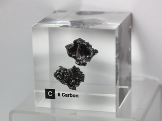 smart-elements - Acrylic Element cube - Glassy Carbon C - 50mm