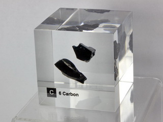 Acrylic Element cube - Glassy Carbon C - 50mm