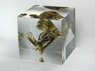 smart-elements - Chlorine Explosion in 80mm Acrylic cube - breathtaking !!