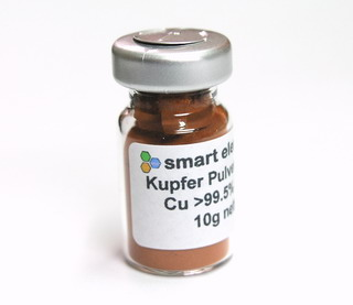 smart-elements - High purity fine copper powder, >99.5% purity 10g