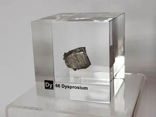 Acrylic Element cube Dysprosium Dy - 50mm