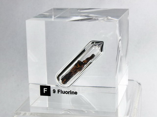 Acrylic Element cube - Fluorine - 50mm