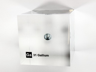smart-elements - Acrylic Element cube - Gallium Ga - 50mm