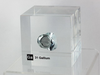 smart-elements - Acrylic Element cube - Gallium Ga - 50mm UNIQUE PIECE!