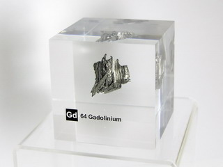 Acrylic Element cube - Gadolinium Gd - 50mm