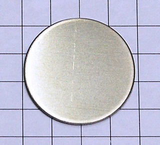 smart-elements - High purity Hafnium disc Ø 1 inch x 1mm - 99.9% purity