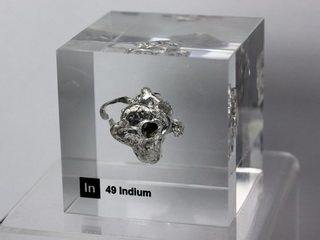 Acrylic Element cube - Indium In - 50mm