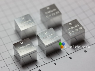 IRIDIUM most perfect density-standard cube 10x10x10mm
