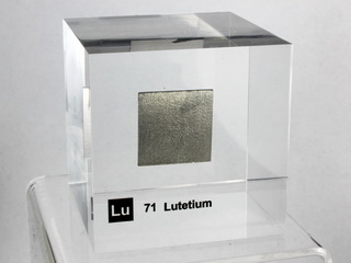 Acrylic Element cube - Lutetium Lu - 50mm