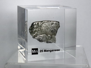 smart-elements - Acrylic Element cube - Manganese Mn - 50mm