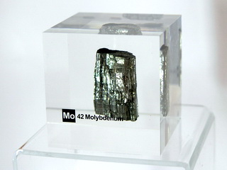 smart-elements - Acrylic Element cube - Molybdenum Mo - 50mm