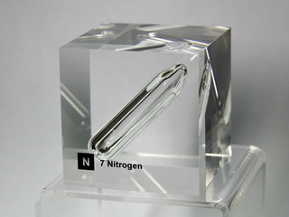 Acrylic Element cube - Nitrogen N2- 50mm
