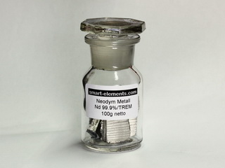 smart-elements - 100g Neodymium metal pieces 99,9% under argon!