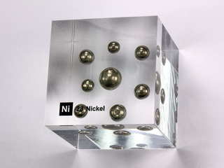 smart-elements - Acrylic Element cube - Nickel Ni - 50mm