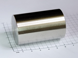smart-elements - Nickel rod 99.9% - ~470g - Ø 35 x 55mm