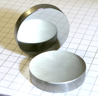 smart-elements - High purity polished Niob-Disc 99.95% purity - 182.9 grams