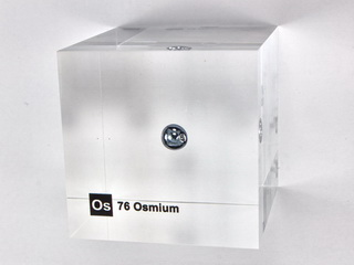 Acrylic Element cube - Osmium Os - 50mm