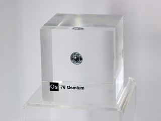Acrylic Element-block Osmium Os - 50mm