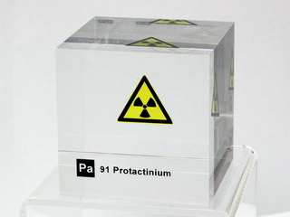smart-elements - Acrylic Element cube - Protactinium - 50mm