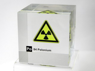 Acrylic Element cube - Polonium - 50mm