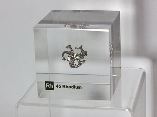 Acrylic Element-block Rhodium Rh - 50mm