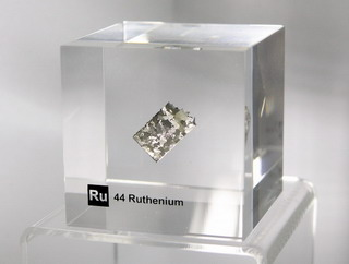 smart-elements - Acrylic Element cube - Ruthenium Ru - 50mm