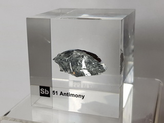Acrylic Element cube - Antimony Sb - 50mm