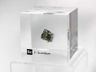 smart-elements - Acrylic Element-block Scandium Sc - 50mm
