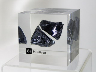 smart-elements - Acrylic Element cube - Silizium Si - 50mm