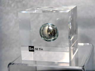 smart-elements - Acrylic Element cube - Tin Sn - 50mm