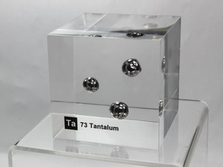 Acrylic Element cube - Tantalum Ta - 50mm
