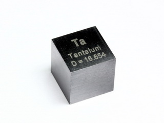 smart-elements - Tantalum - precision density-standard cube 1 cm3 16.7 grams