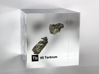 smart-elements - Acrylic Element cube - Terbium Tb - 50mm