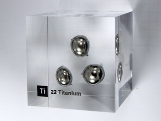 Acrylic Element cube - Titanium Ti - 50mm