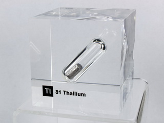 smart-elements - Acrylic Element cube - Thallium Tl - 50mm