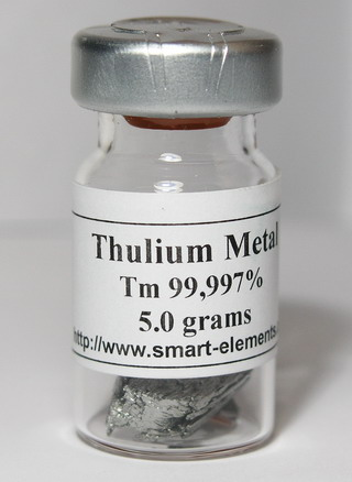 smart-elements - Thulium Metal 99,99% purity in sealed vial under Argon