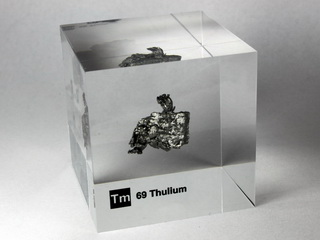 smart-elements - Acrylic Element cube - Thulium Tm - 50mm