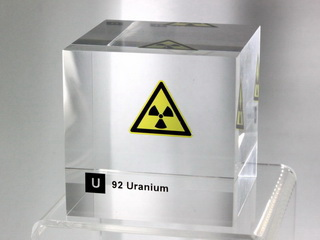 Acrylic Element cube - Uranium - 50mm