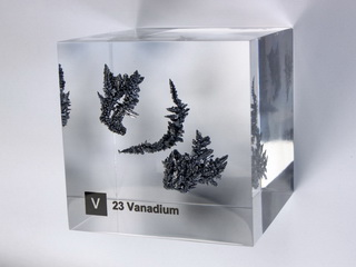 Acrylic Element cube - Vanadium V - 50mm