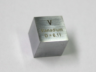 VANADIUM - precision density-standard cube 1cm3