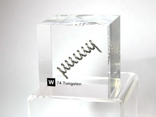 smart-elements - Acrylic Element cube - Tungsten W - 50mm